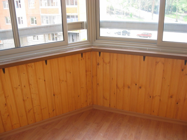 обшивка пола балкона своими руками