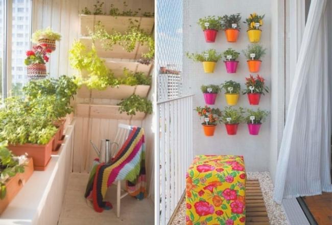 Оформление балкона своими руками цветами 69
