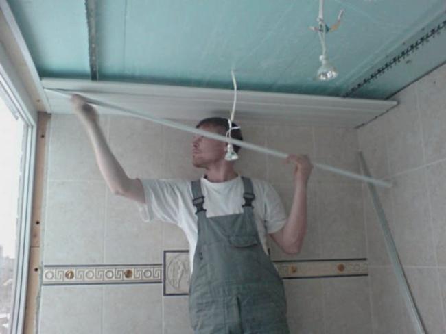 Реечный потолок для ванной Строительный вестник