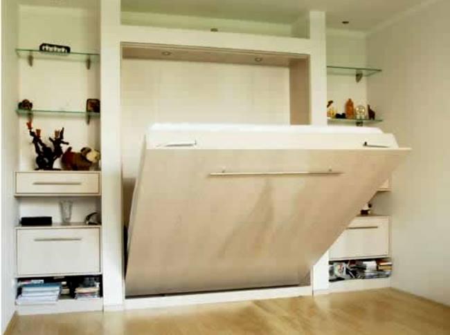 ниши из гипсокартона: спальная комната