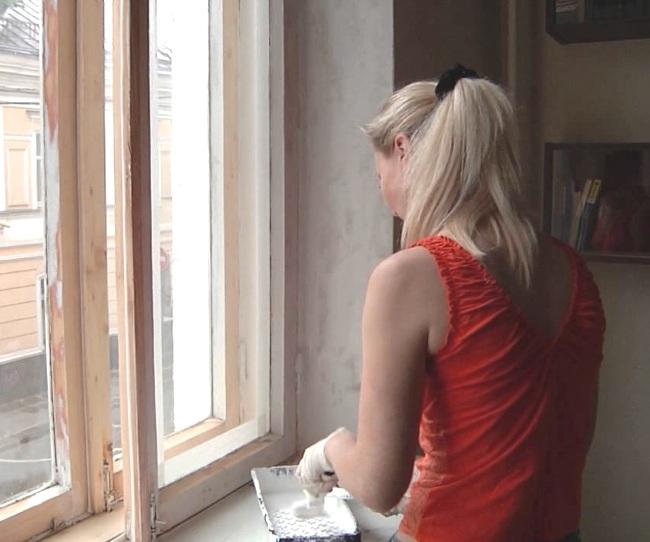 Как покрасить окна?